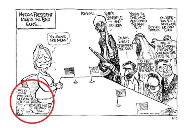 Sexist cartoon: Pat Oliphant [8]